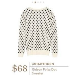 Stitchfix 41 Hawthorne - Gideon Polka Dot Sweater